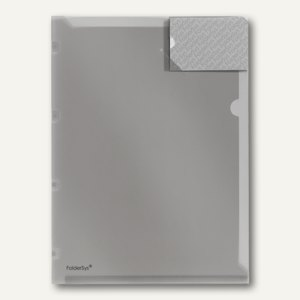 FolderSys Angebots-Sichthülle, DIN A4, PP, Abheftlasche, rauch, 100 St., 4000124
