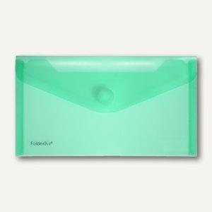 FolderSys Dokumententaschen, DIN lang, Klett, grün, 100 St., 4010354