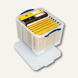 Really Useful Box Aufbewahrungsbox 35 Liter, 480 x 390 x 310 mm, transparent,35C