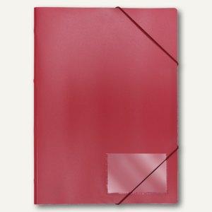 FolderSys Eckspannmappe für DIN A4, PP, rot, VE 40 Stück, 1000480