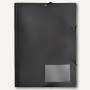 FolderSys Eckspannsammelmappe für DIN A4, PP, schwarz, VE 30 Stück, 1000630