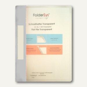 FolderSys Schnellhefter A4, PP, transparent grau, VE 40 Stück, 1100104