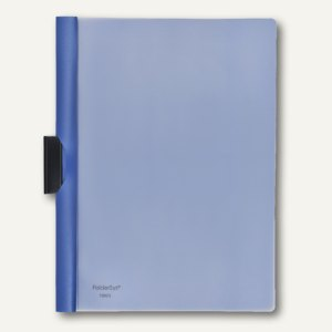 FolderSys Klemm-Mappe A4, PP, bis 40 Blatt, blau, VE 50 Stück, 1300340