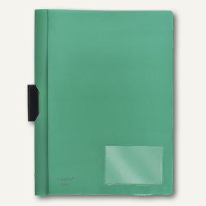 FolderSys Klemm-Mappe A4, PP, bis 40 Bl., vollfarbig grün, 50 Stück, 1300450