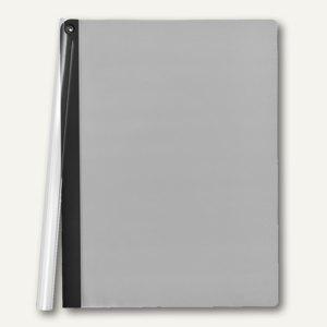 FolderSys Klemmmappe mit Schiene, A4, PP, schwarz, VE 50 Stück, 1300730