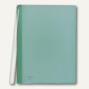 FolderSys Klemmmappe mit Schiene, A4, PP, grün, VE 50 Stück, 1300750