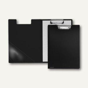 FolderSys Klemmbrettmappe A4, PP, Dreieckstasche, schwarz, 20 Stück, 8000330
