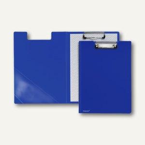 FolderSys Klemmbrettmappe A4, PP, Dreieckstasche, blau, 20 Stück, 8000340