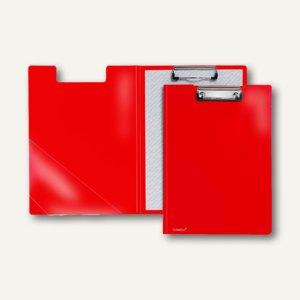 FolderSys Klemmbrettmappe A4, PP, Dreieckstasche, rot, 20 Stück, 8000380