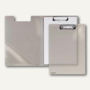 Klemmbrettmappe A4, PP, Dreieckstasche, rauch-transparent, 20 Stück, 80004-24