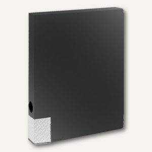 FolderSys Dokumentenbox für DIN A4, PP, Breite 35mm, schwarz, 10 Stück, 3000130
