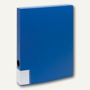 FolderSys Dokumentenbox für DIN A4, PP, Breite 35mm, blau, 10 Stück, 3000140