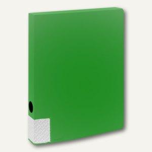 FolderSys Dokumentenbox für DIN A4, PP, Breite 35mm, grün, 10 Stück, 3000150