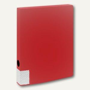 FolderSys Dokumentenbox für DIN A4, PP, Breite 35mm, rot, 10 Stück, 3000180