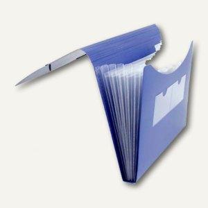 FolderSys Fächermappe A4, PP, 5 Taschen, blau, 20 Stück, 7000440