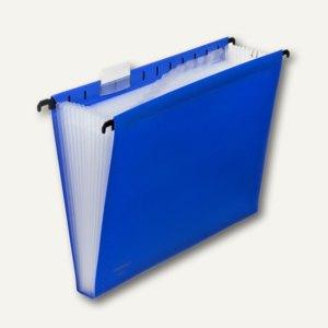 FolderSys 12er Hänge-Fächertasche A4, mit Taben, blau, 10 Stück, 7004140