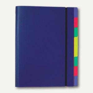 FolderSys Ordnungsmappe mit 8 Trennblättern, A4, PP, blau, 10 Stück, 7003147