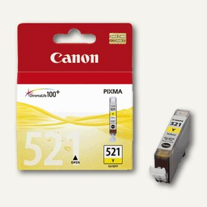 Canon Tintenpatrone CLI-521Y, gelb, 9 ml, 2936B001