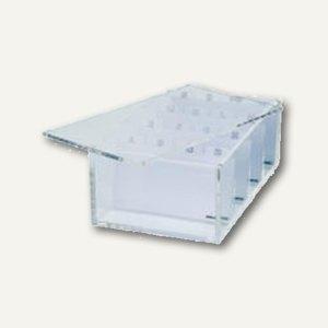 Artikelbild: Acryl-Visitenkartenbox mit Deckel u. Register A-Z