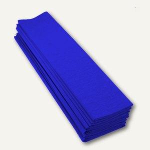 Clairefontaine Krepp-Papier, 50 x 70 cm, dunkelblau, 10 Stück, 901013C