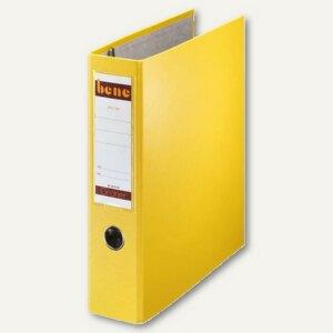Bene Postscheckordner DIN A4, Rückenbreite 75 mm, gelb, 292900