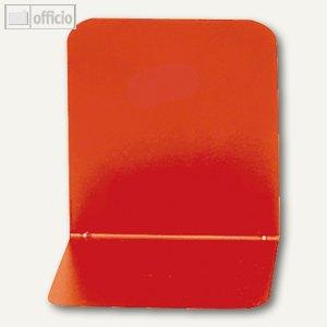 Alco Buchstützen, Metall, 130 x 140 x 140 mm, rot, 2 Stück, 4302-12