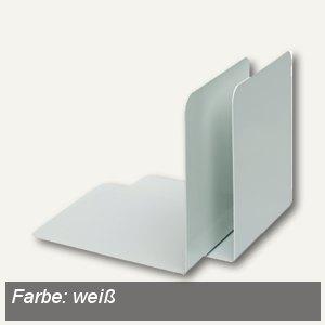 Alco Buchstützen, Metall, 130 x 140 x 140 mm, weiß, 2 Stück, 4302-10