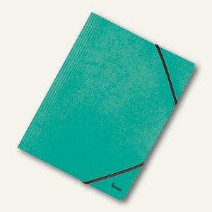 Bene Eckspannmappe Vario-Dreiflügel DIN A4, Karton 390 g/m², grün, 110700 GN