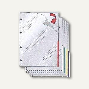 System9-Prospekthüllen, A4, oben+rechts, PP, Farbindex grün, 110my, 100St. 49325