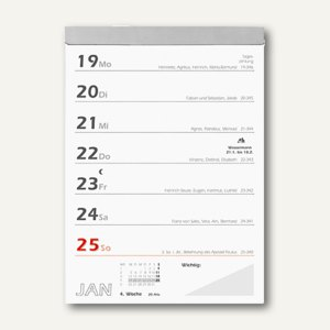 Zettler Wochenabreißkalender - 10.5 x 15 cm, Rückseitentexte, 325-0000
