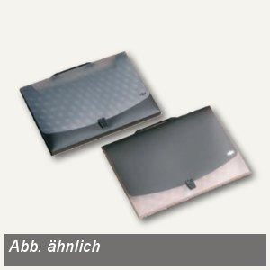 FolderSys Zeichnungs-Koffer, A2, PP, Clip-Verschluß, schwarz, 3 Stück, 1062-01