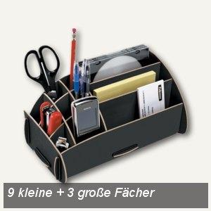 """Fellowes """"Earth"""" Schreibtisch-Organizer 12 Fächer, Recycling, schwarz, 8011201"""