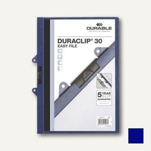 Durable Klemm-Mappe DURACLIP 30 Easy File, dunkelblau, 25 Stück, 2229-07