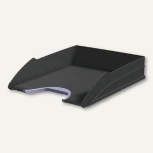 Durable Briefablageschale VEGAS m. Greifzone, stapelbar, schwarz, 7711-01
