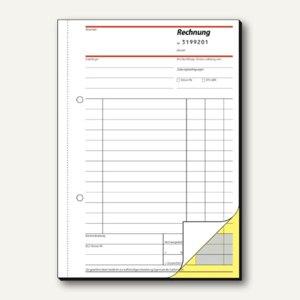 Sigel Rechnungsbuch, DIN A5, mit fortlaufender Nummerierung, 2x50 Blatt, SD131