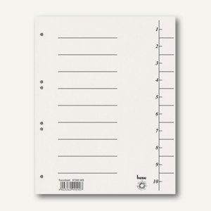 Bene Trennblätter DIN A4, Karton 250 g/m², 235 x 300 mm, weiß, 100 Stück, 97300