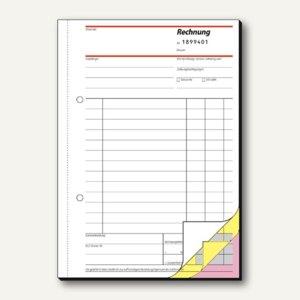 Sigel Rechnungsbuch, DIN A5, mit fortlaufender Nummerierung, 3x50 Blatt, SD132