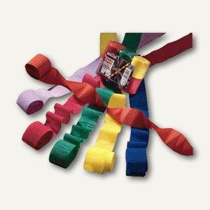 Heyda Kreppbänder, 5 cm x 10 m, sortiert, 32 g/qm, 6 Rollen, 203376099