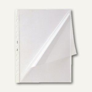 Bene Spezialhüllen DIN A4, 140my, Lochrand, oben+seitlich offen, 50 Stück,206200