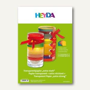 Heyda Transparentpapier, DIN A4, 115 g/qm, sortiert, 10 Blatt, 204875410