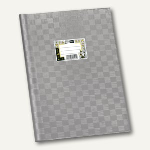 Veloflex Schulhefthülle, DIN A4, PP-Folie, grau/silber, 25 Stück, 1342081