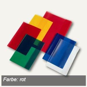 Veloflex Schulhefthülle, DIN A4, PP-Folie, transparent-rot, 25 Stück, 1343020