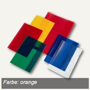 Veloflex Schulhefthülle, DIN A4, PP-Folie, transparent-orange, 25 Stück, 1343030
