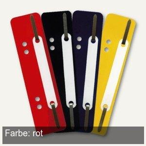 Heftstreifen, 34 x 150 mm, 250 my, PP, links gelocht, rot, 250 Stück, 2005020