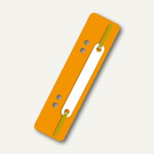 Heftstreifen, 34 x 150 mm, 250 my, PP, links gelocht, orange, 250 Stück, 2005030