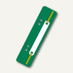 Heftstreifen, 34 x 150 mm, 250 my, PP, links gelocht, grün, 250 Stück, 2005040