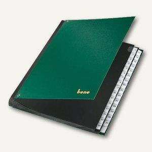Bene Pultordner DIN A4, Kunststofffolie, Fächer 1-31, 75416 grün