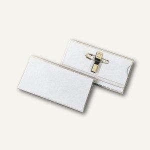 Namensschild VELOCARD®, 77 x 41 mm, mit Clip und Nadel, 25 Stück, 2013000