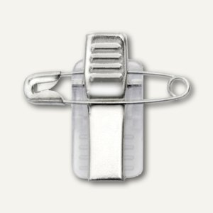 Artikelbild: selbstklebender Clip mit Nadel für Namensschilder