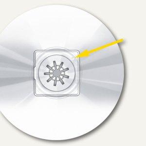 Veloflex selbstklebende CD-Halter, für 1 CD, PVC, 100 Stück, 2801000